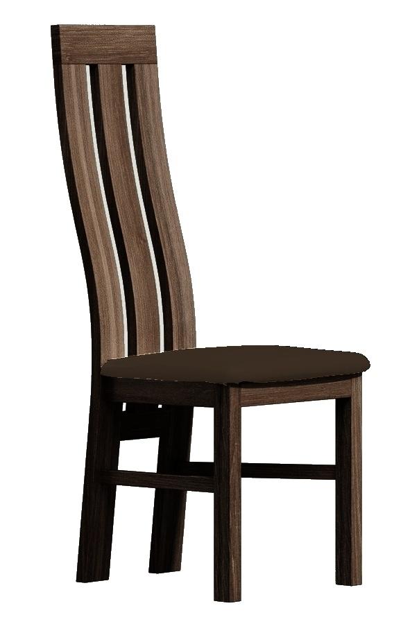 Čalúnená stolička II tmavý jasan/Victoria 36