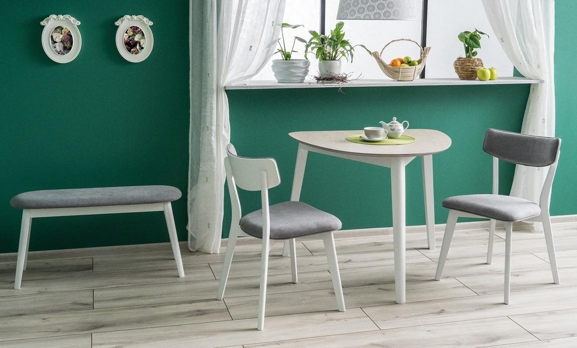 Jedálenská čalúnená stolička KARL šedá/biela