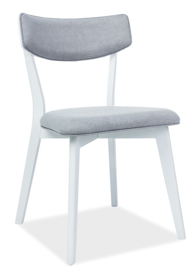 Jídelní čalouněná židle KARL šedá/bílá