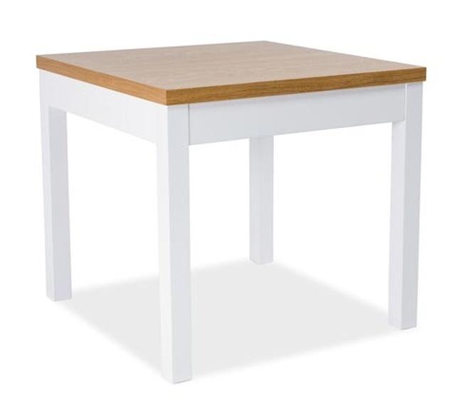 Jedálenský stôl KENT I 80x80 buk/biela