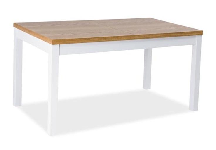 Jedálenský stôl rozkladací KENT II 150x80 buk/biela