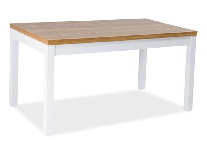 Jídelní stůl rozkládací KENT III 160x90 buk/bílá