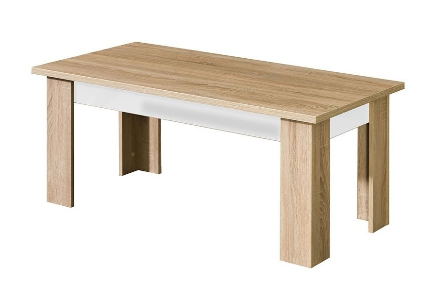 konferenčný stolík CARMELO C12 sonoma/biela lesk
