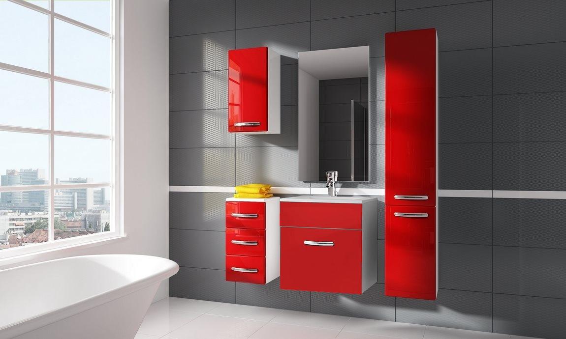 Kúpelňová zostava CORAL II červená
