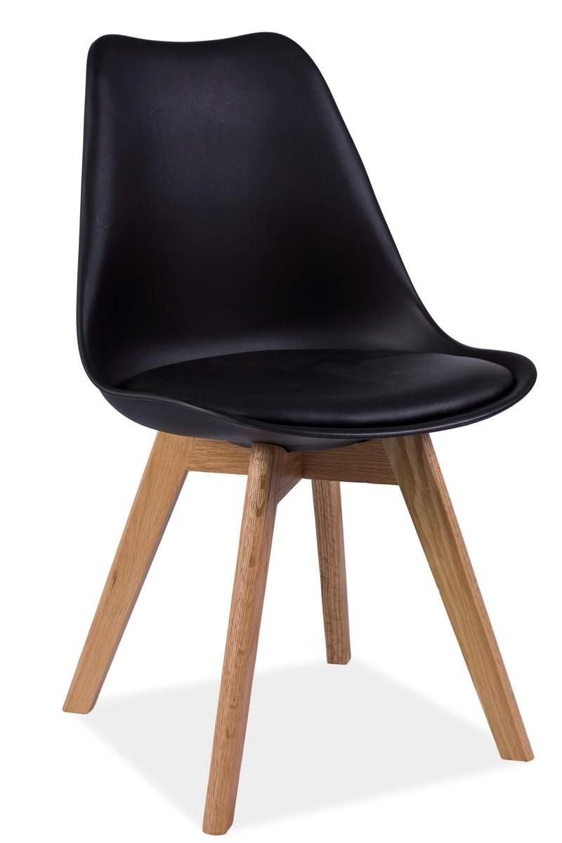 Jedálenská stolička KRIS čierna