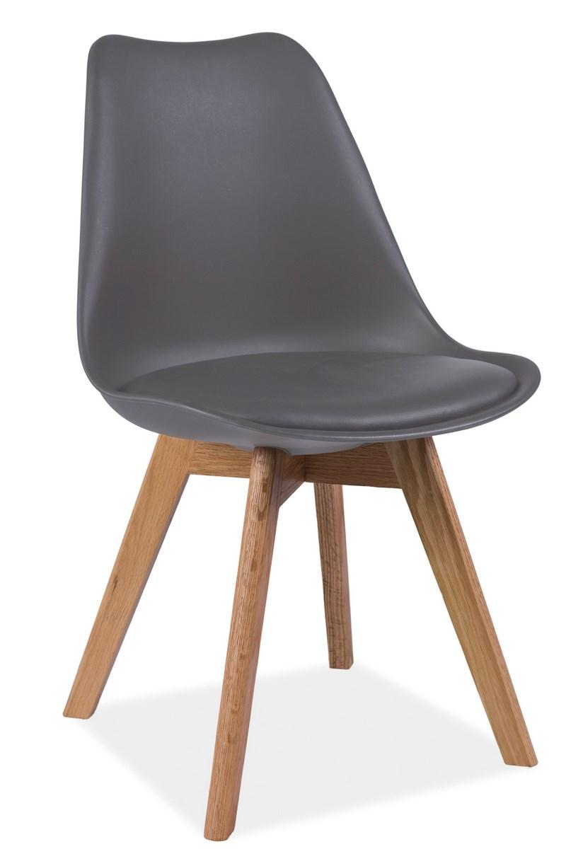 Jedálenská stolička KRIS šedá
