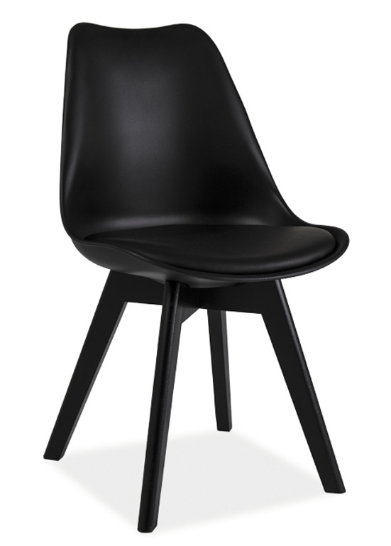 Jedálenská stolička KRIS II čierna/čierna