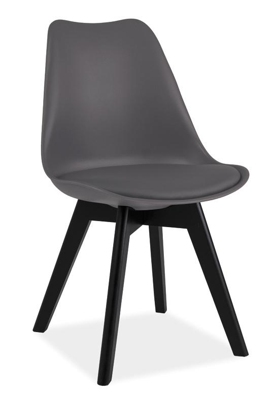 Jedálenská stolička KRIS II šedá/černá