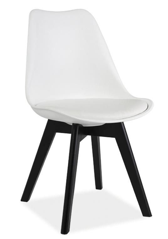Jedálenská stolička KRIS II biela/čierna