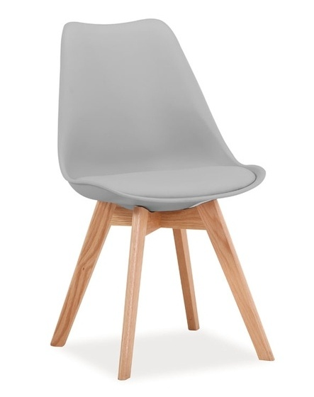 Jedálenská stolička KRIS světle šedá/buk