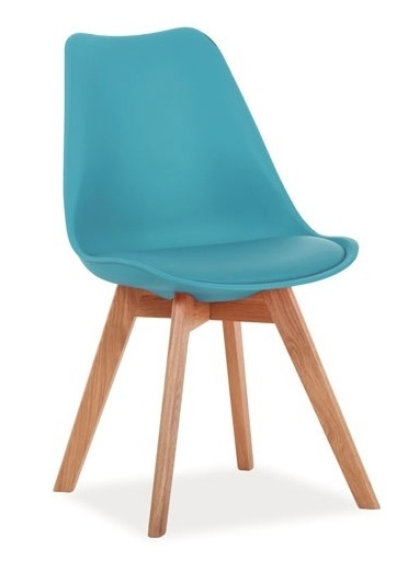 Jedálenská stolička KRIS modrá/dub