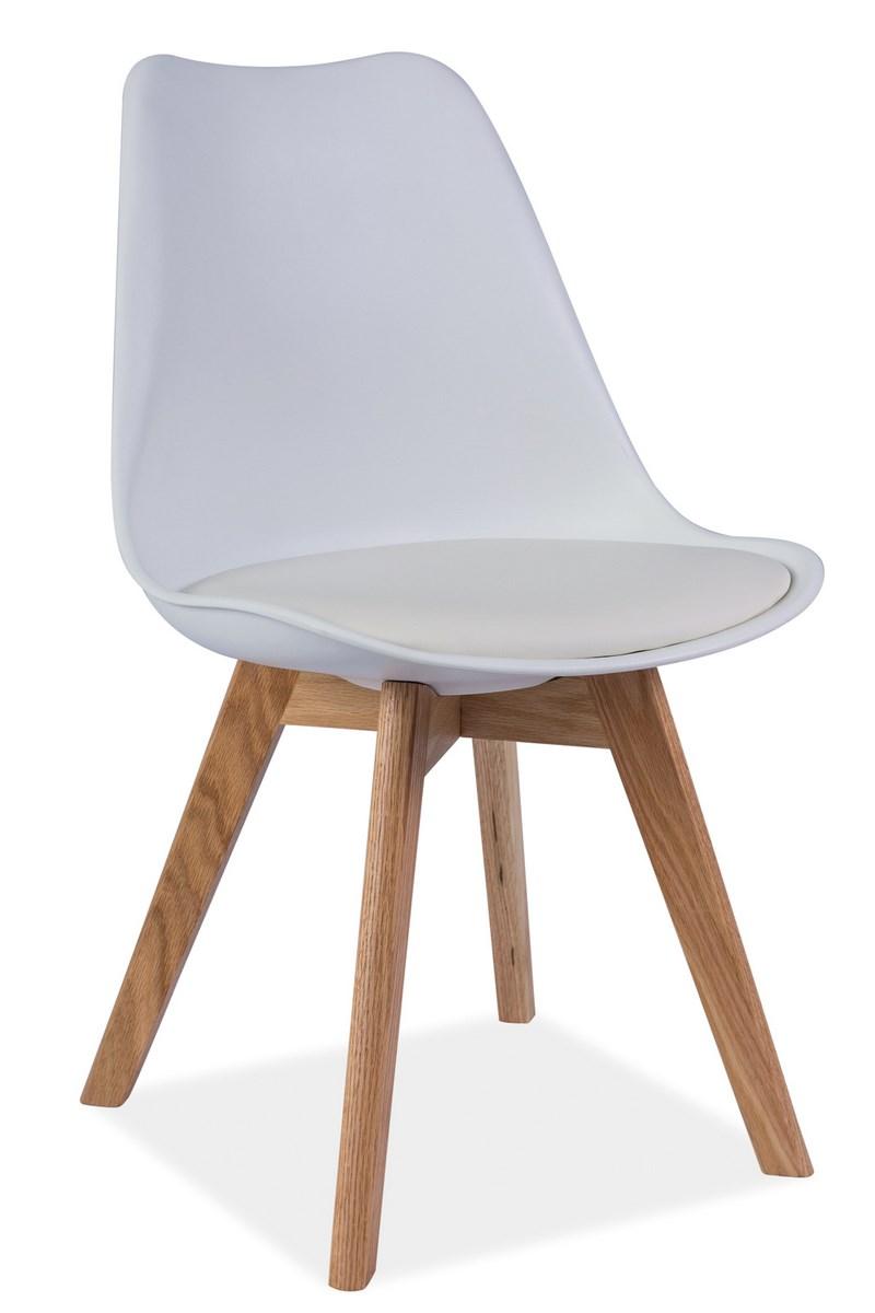 Jedálenská stolička KRIS biela