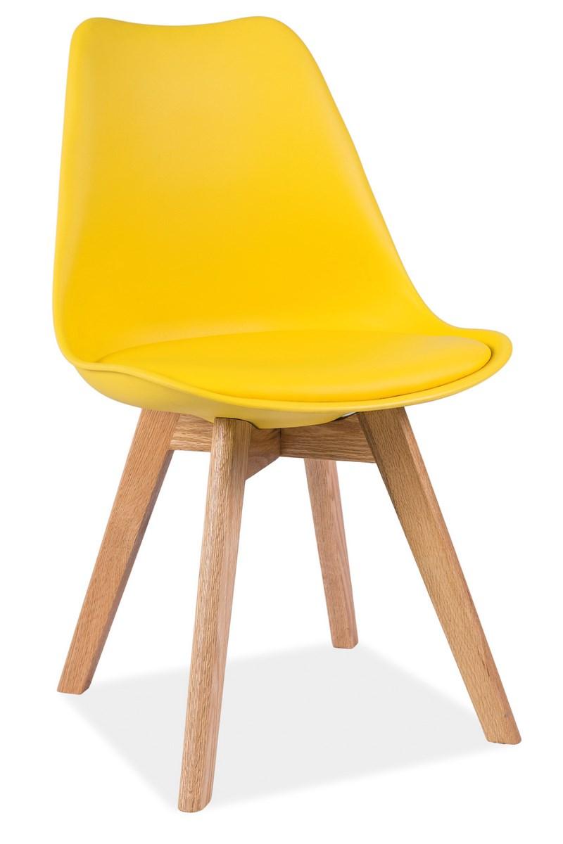 Jedálenská stolička KRIS žlutá