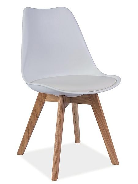 Jedálenská stolička KRIS biela/buk
