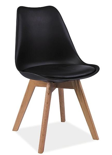 Jedálenská stolička KRIS černá/buk