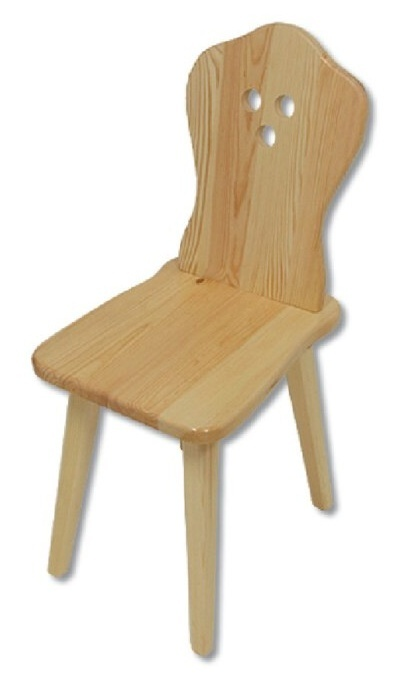 TK-110 stolička z borovicového dřeva