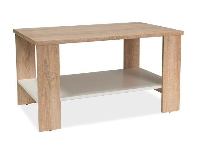 Konferenčný stolík LARA dub sonoma/biela