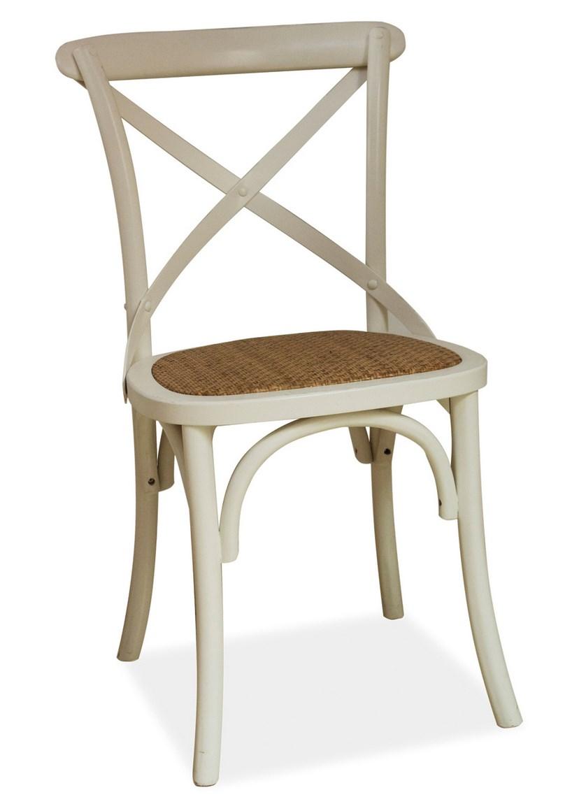 Jedálenská drevná stolička LARS biela
