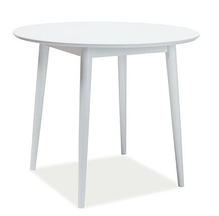 Jedálenský stôl gulatý LARSON 90x90 cm biela - NA SKLADE!
