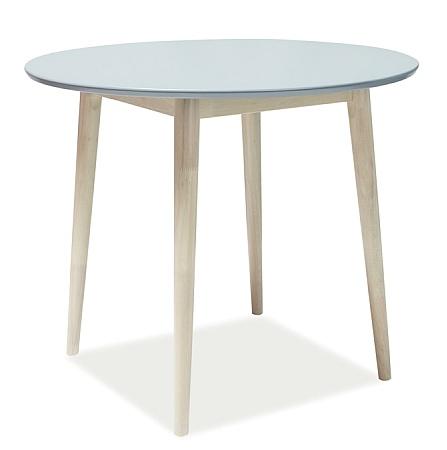Jedálenský stôl kulatý LARSON 90x90 cm šedá/dub bieleny