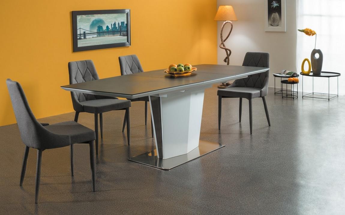Jedálenská čalúnená stolička TRIX šedá