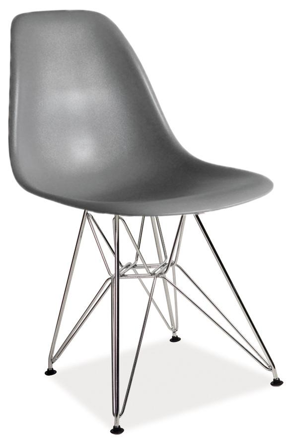 Jedálenská stolička LINO šedá