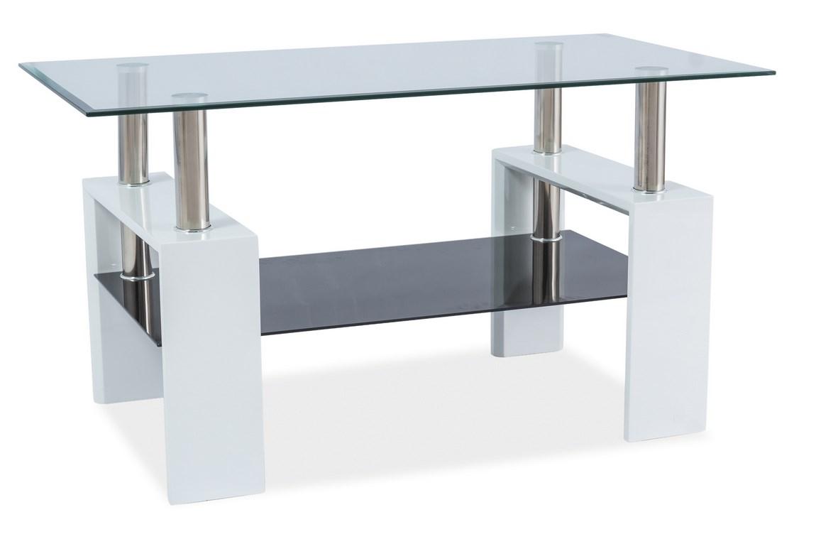 Konferenční stolek LISA III - bílý lak