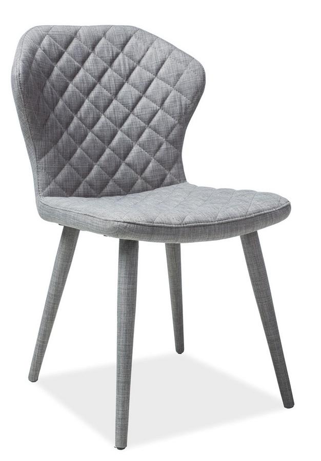 Jídelní čalouněná židle LOGAN šedá