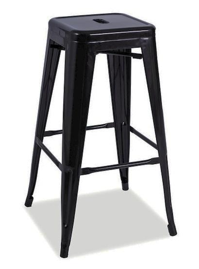 Barová stolička LONG čierna mat
