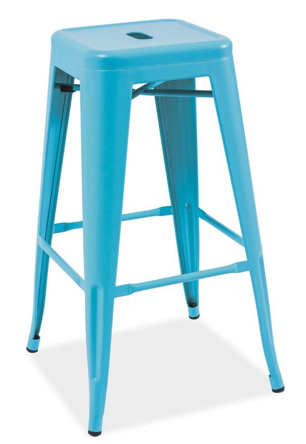Barová stolička LONG modrá