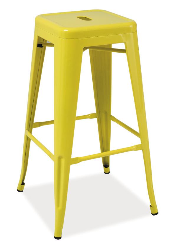Barová kovová Stolička LONG žlutá