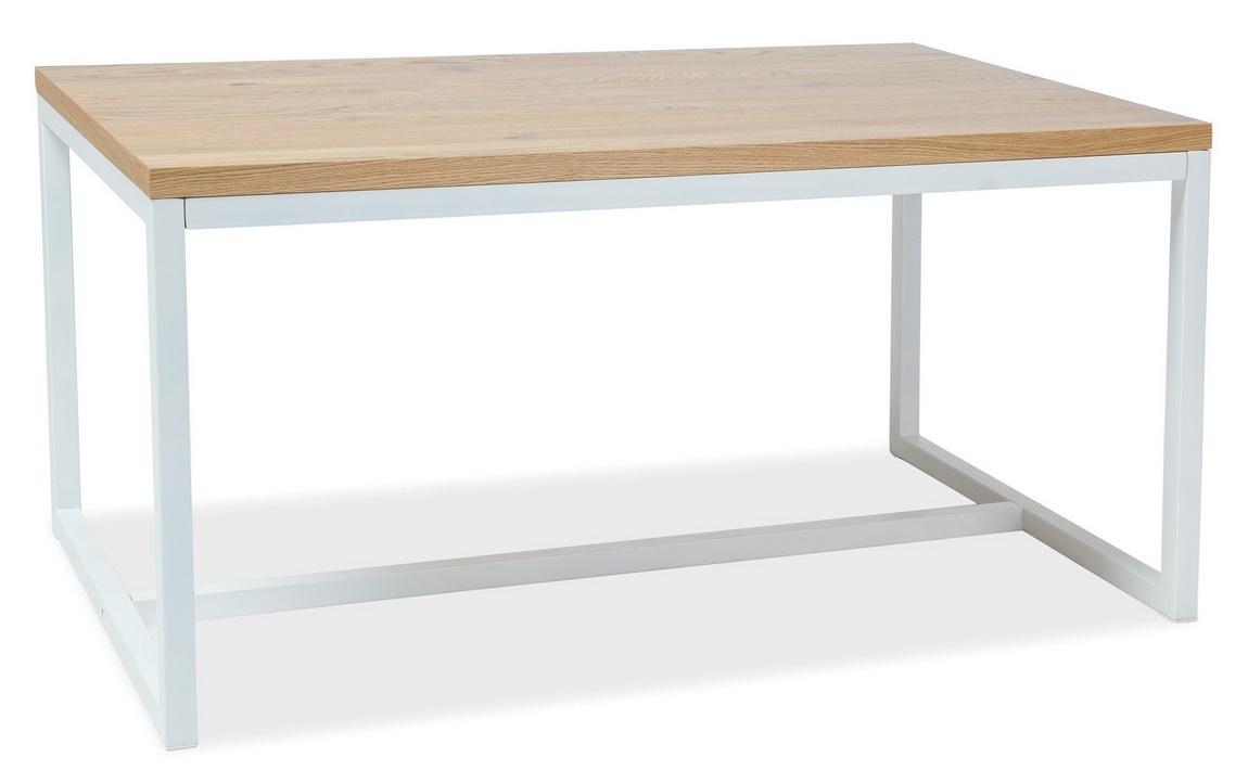 Jedálenský stôl LORAS A 120x80 dýha dub/biela