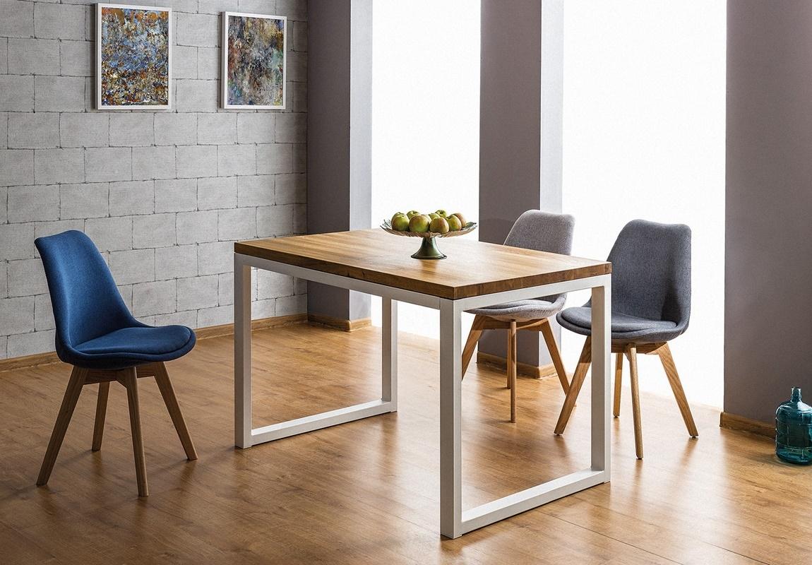 Jedálenský stôl LORAS II 120x80 dýha dub/biela