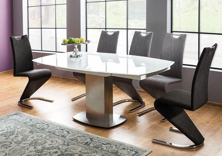 Jedálenský stôl LUCIANO rozkládací biely