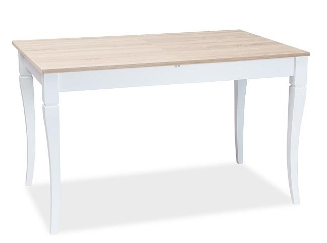 Jedálenský stôl rozkladací LUDWIK 125x75 dub sonoma/biela