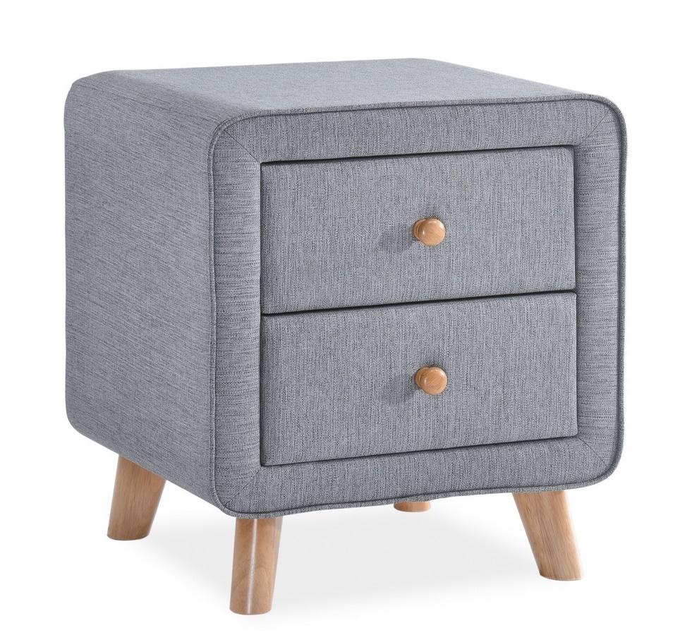 Noční stolek MALMO šedá