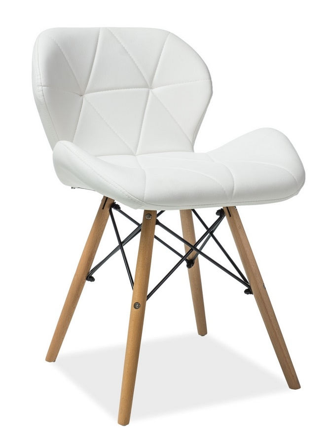 Jedálenská stolička MATIAS biela ekokoža