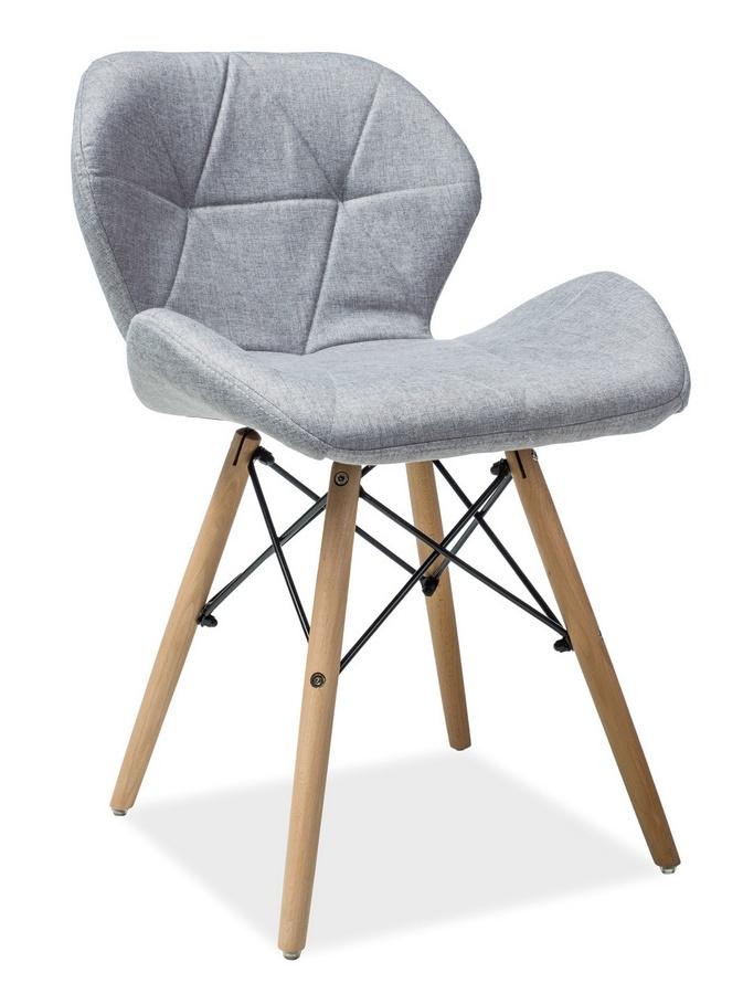 Jedálenská stolička MATIAS II šedá látka