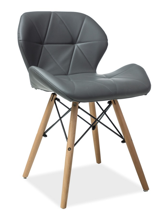 Jedálenská stolička MATIAS šedá ekokoža
