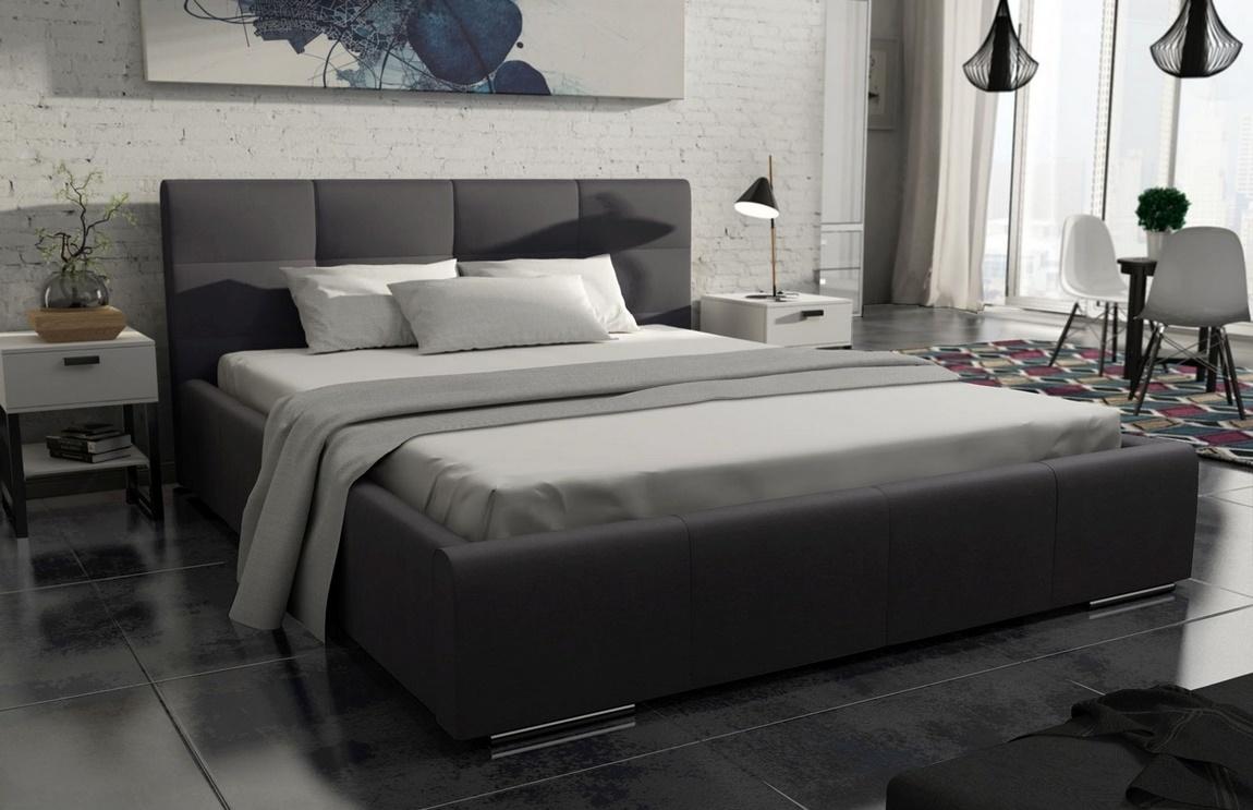 Čalúnená postel MEDIOLAN 140x200 černá