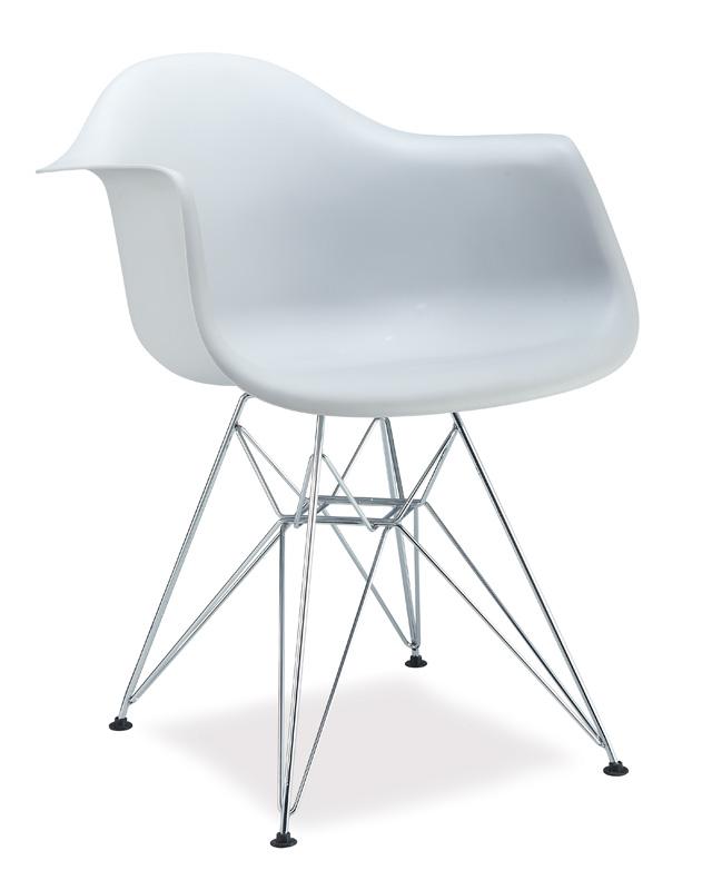 Jedálenská stolička MEGAN biela