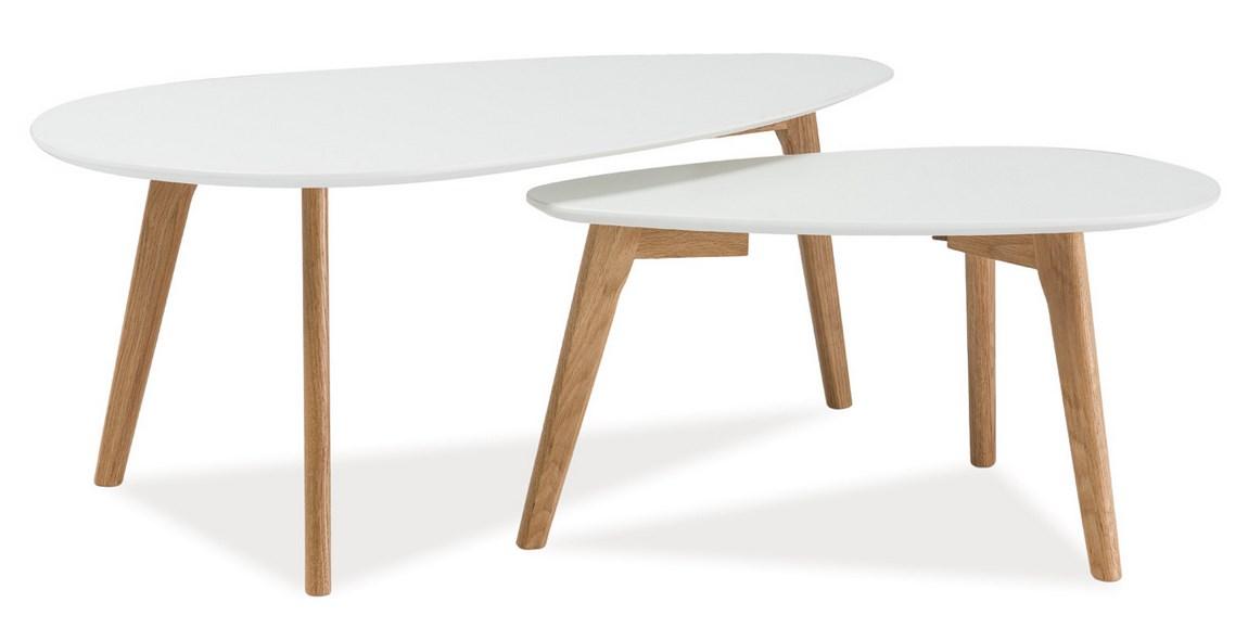 Konferenční stolky- sestava MILAN L2 bílá