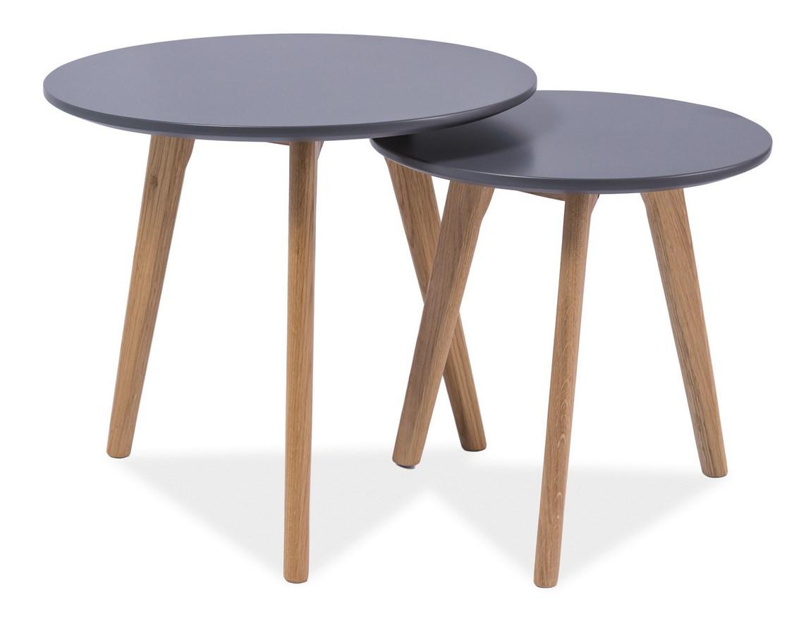 Konferenčné stolíky- sestava MILAN S2 šedá