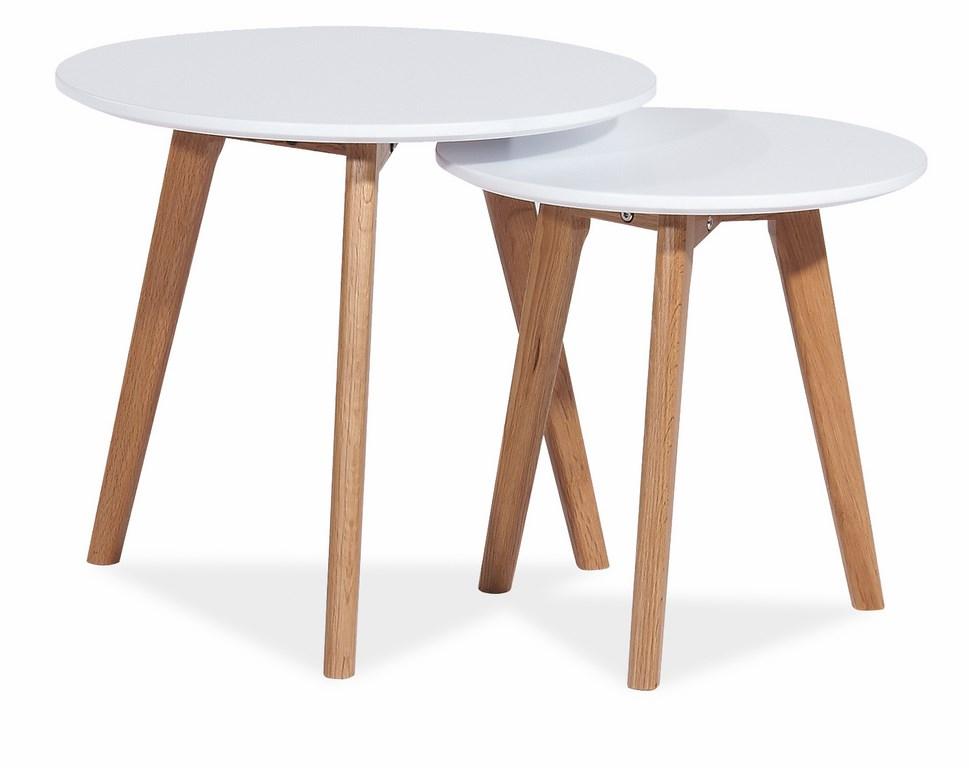 Konferenčné stolíky- sestava MILAN S2 biela