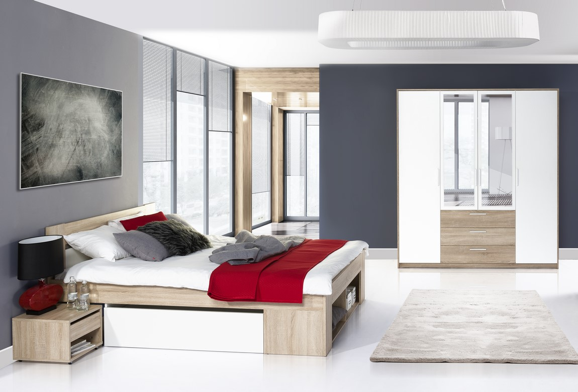 Spálňa MILO III ( postel 160, skriňa )