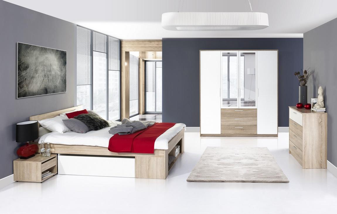 Spálňa MILO ( postel 160, komoda 4S, skriňa )