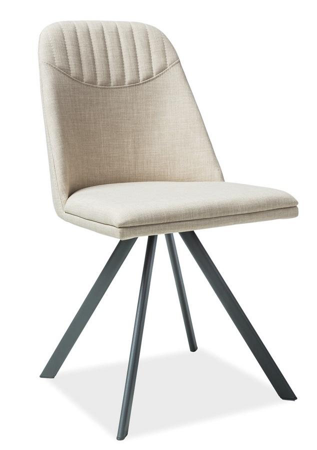 Jedálenská čalúnená stolička MILTON béžová