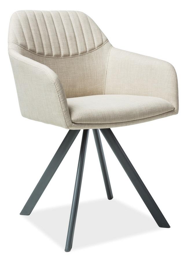 Jedálenská čalúnená stolička MILTON II béžová