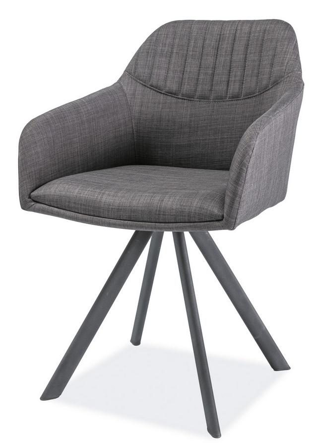 Jedálenská čalúnená stolička MILTON II šedá