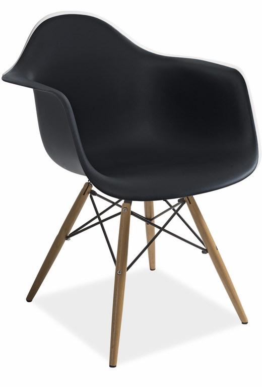 Jedálenská stolička MONDI čierna
